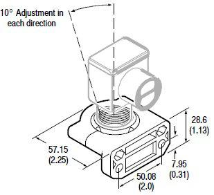 A-B 60-2649 MOUNTING BRACKET FOR RIGHT-SIGHT SWIVEL-TILT 10 DEG