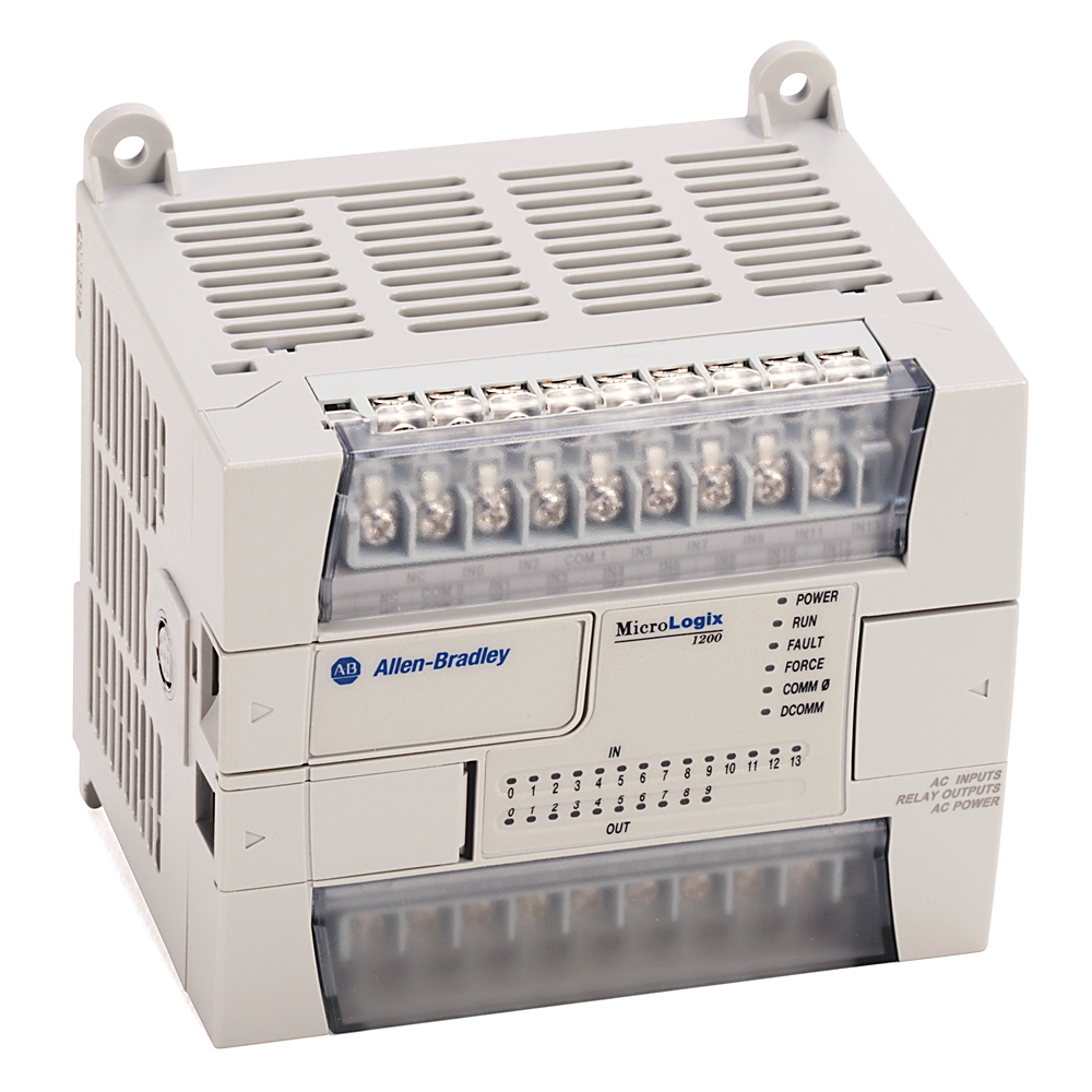 A-B 1762-L24BXB MICROLOGIX 1200 WITH 14 24VDC INPUTS & 5 10 RELAY OUTPUTS 24VDC LINE POWER