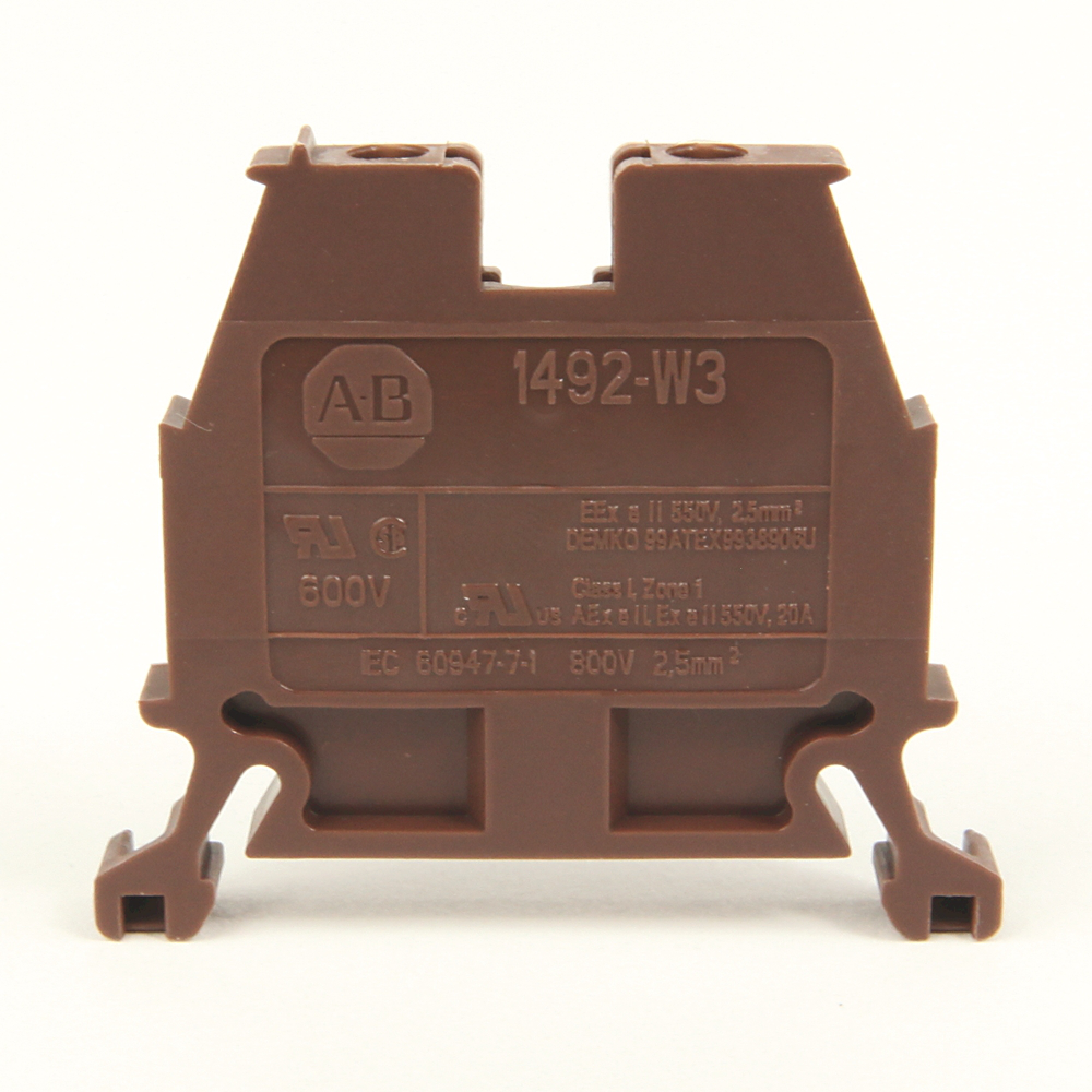 A-B 1492W3-BL BLACK TERMINAL BLOCK