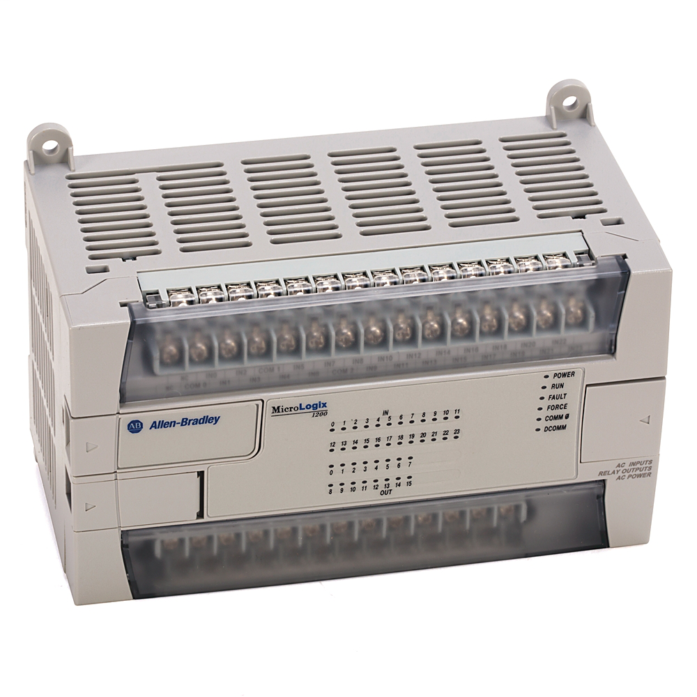 A-B 1762-L40BXB MICROLOGIX 1200 PROCESSOR (24) 24VDC INPUTS (8) 24VDC OUTPUTS & (8) RELAY OUTPUTS WITH 24VDC LINE POWER