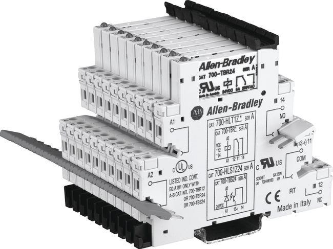 700-HL Electromechanical Relay Output, SPDT (1 C/O), w/ Screw Terminals, 24V DC, Touch Safe Terminal Construction, Pkg. Qty. of 10