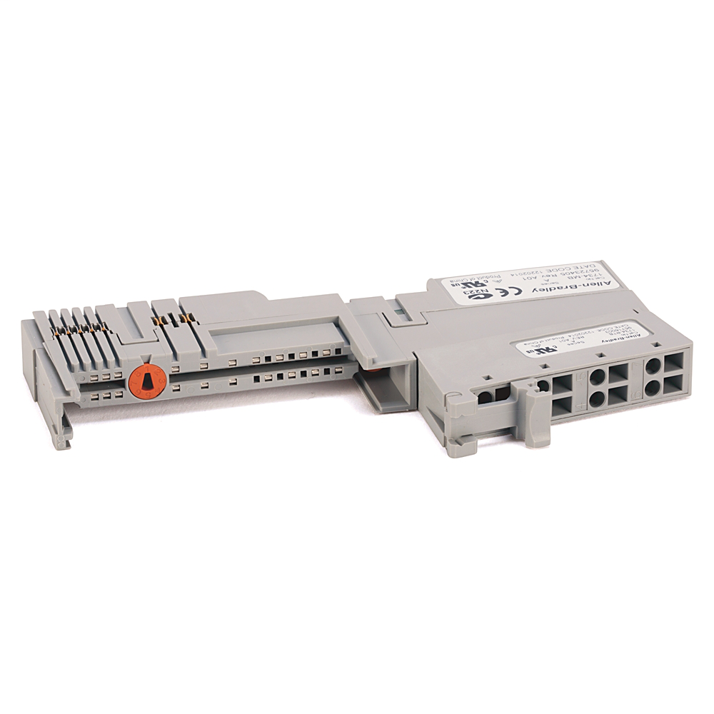 A-B 1734-TB POINT I/O TERMINAL BASE TWO PIECE 8 SCREW-CLAMP TERMINALS OPEN STYLE DIN MOUNTED