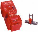 Guard Locking Switch - 440G Spartan: Solenoid Voltage: 24V AC/DC, Contacts(Safety and Aux): 2 Normally Closed, 1 Normally Open, Actuator: Standard, Conduit Entry: 1/2 in NPT Adapter