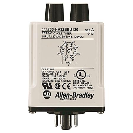 Allen-Bradley 700-HV32BBA2 240 VAC Max Relay Timing