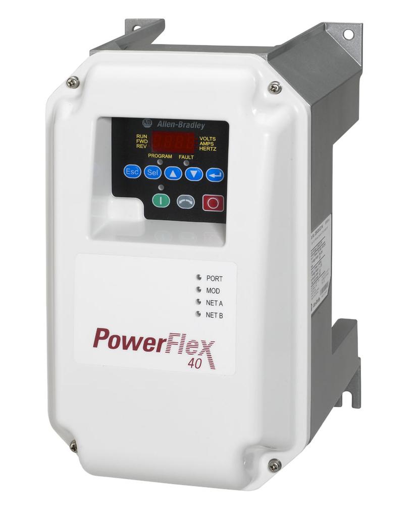 Allen-Bradley 22B-D2P3C104 Powerflex 40 0.75 kW 1 Hp AC Drive