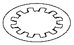 Allen-Bradley 871A-LWN12 12 mm Diameter Nickel Plated Brass Lock Washers