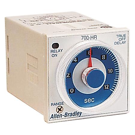 Allen-Bradley 700-HRQN2GA22 Tube Base Dial Timing Relay
