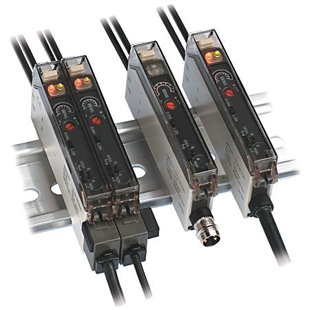 Allen-Bradley 45FSL-2LHE-P4 12 to 24 VDC PNP Red Polycarbonate General Purpose Fiber Optic Photoelectric Sensor