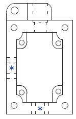 Allen-Bradley 800H-NP46B NEMA 7/9 Push Button Enclosure