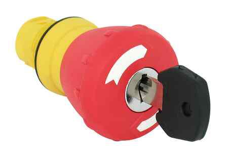 Allen-Bradley 800FM-MK44 22 mm Twist To Release E-Stop Push Button