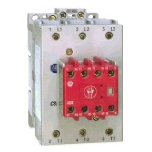 100S-C Safety Contactor, 37A, Line Side, 200-220V 50Hz / 208-240V 60Hz, 3 N.O., 1 N.O. 4 N.C.
