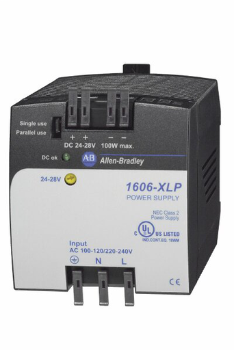 1606-XLP100E: Compact Power Supply, 24-28V DC, 100 W, 100-120 / 220-240V AC / 290V DC Input Voltage