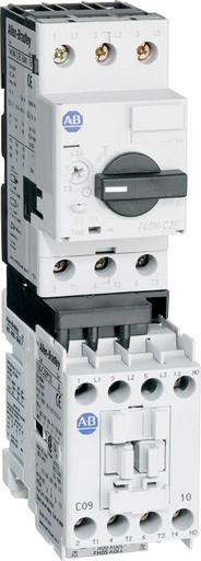 190E Eco Starter / 190S MCS Compact Starter, 100-C09, Common Open Type, 1 N.O. 0 N.C., 140M-C2E (C-Frame), High Break, Internal Auxiliary Contact 1 N.C., 1 - 1.6 A, 110V 50Hz / 120V 60Hz