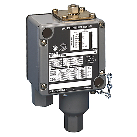 Allen-Bradley 836T-T253JX40 Electro Mechanical Pressure Control Switch