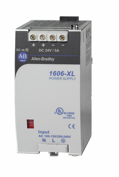 1606-XL120DR: Redundant Power Supply, 24V DC, 120 W, 120/230V AC / 210-375V DC Input Voltage