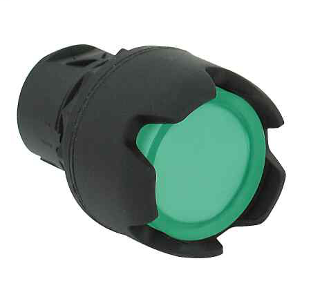 Allen-Bradley 800FP-LG3 Plastic Illuminated Guarded Green Momentary Push Button