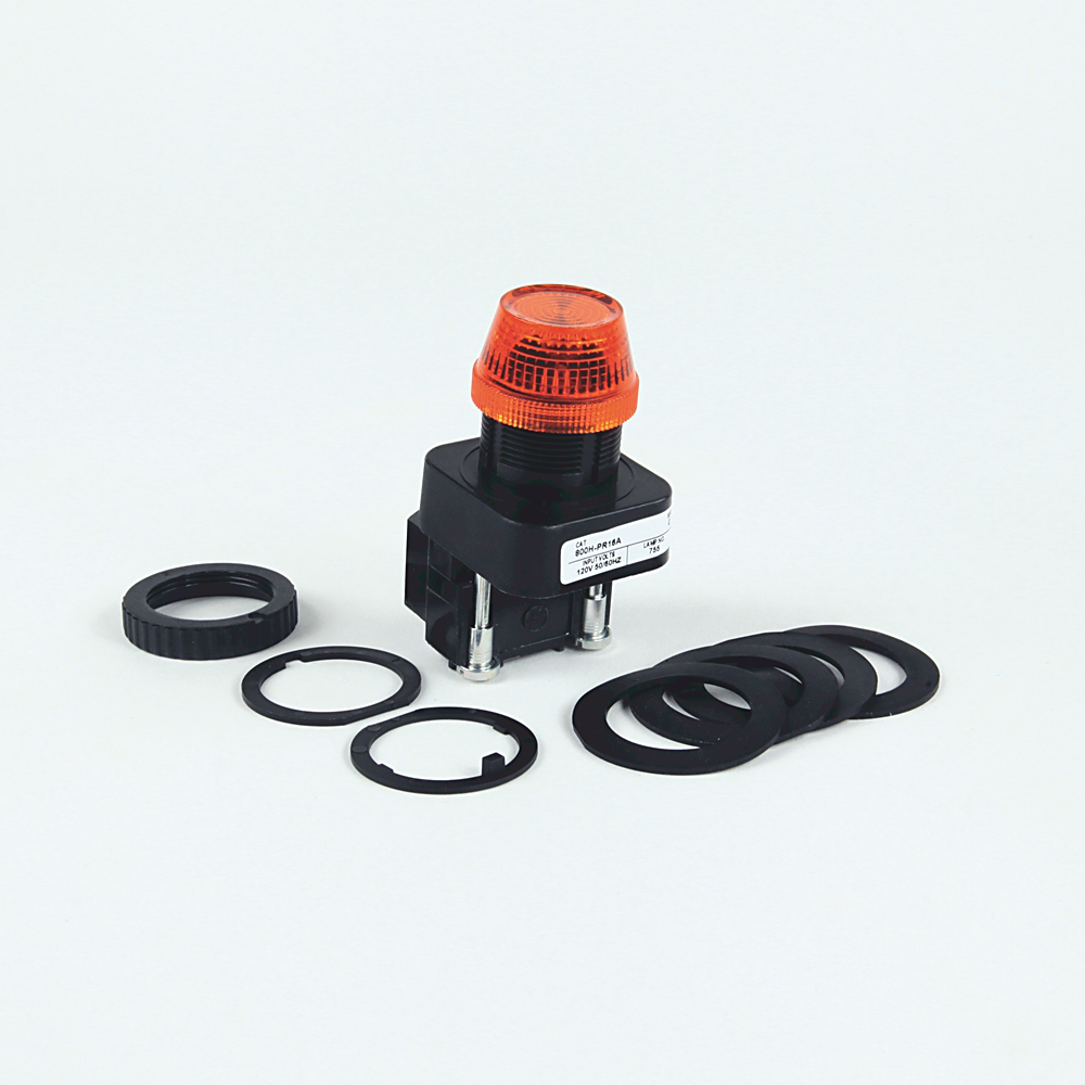 30.5mm Type 4/4X/13 Pilot Light, Xfmr, No Test Option, Incand., Green, 480V AC 50/60 Hz