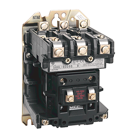 500L NEMA Top Wiring Electically Held Lighting Contactor, NEMA 2, Open, 200-208V 60Hz, 3 Power Poles, 60A, 200-208V 60Hz, ,