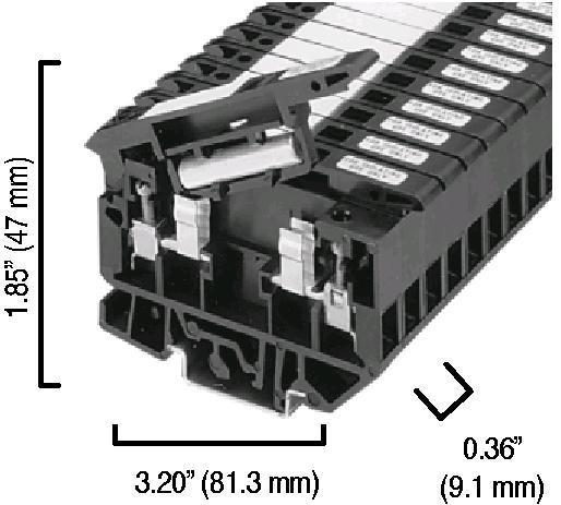 Allen-Bradley 1492-H5 4 mm Fuse Terminal Block