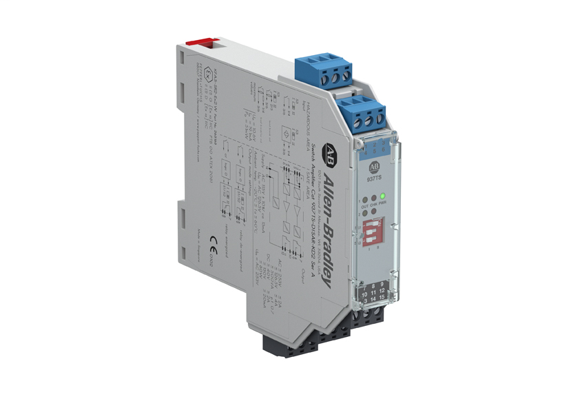 937 Isolated Barrier, 20mm Module (Standard Density), Digital In I/O Type, Switch Amplifier with Relay Output, 115V AC, Dual Channel
