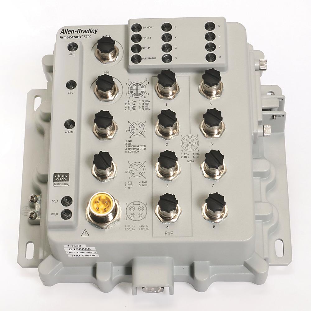 Allen Bradley 1783-ZMS4T4E2TGP Armorstratix 5700 10-Port Managed Switch