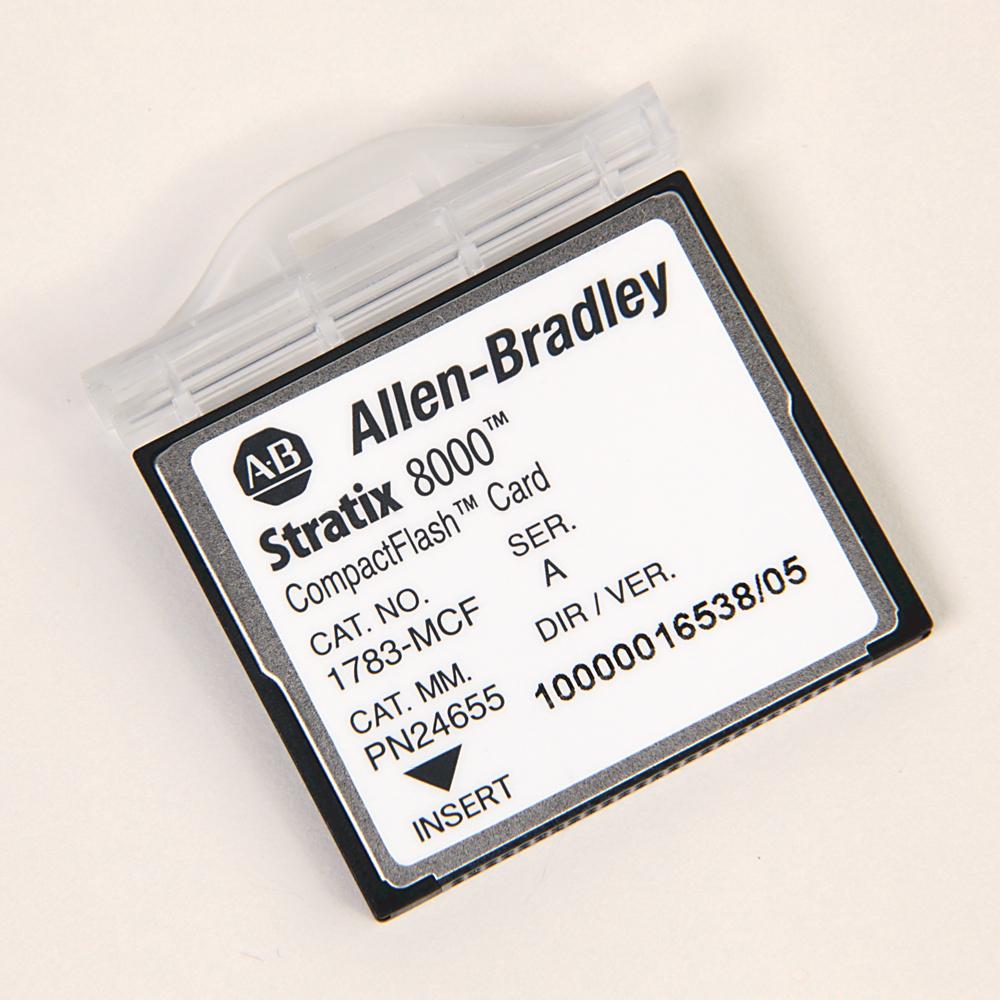 Allen Bradley 1783-MCF Stratix 8000 CompactFlash Spare Ethernet Managed Switch Memory Card