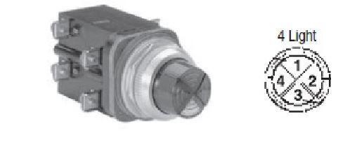 Allen-Bradley 800T-PCL216XAXA 30.5 mm Amber/Amber 120 VAC Transformer 2 Unit Cluster LED Pilot Light