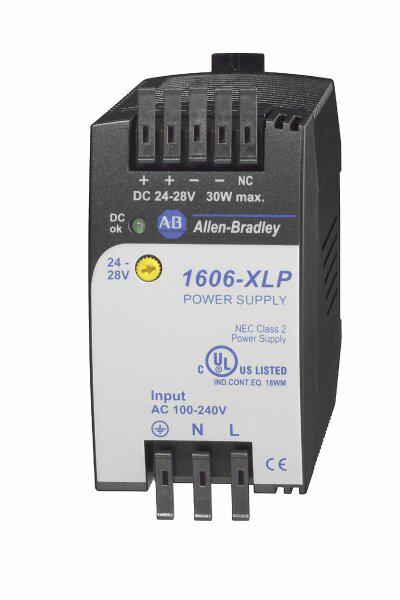 1606-XLP30E: Compact Power Supply, 24-28V DC, 30 W, 120/240V AC / 85-375V DC Input Voltage