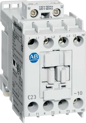Allen-Bradley 100-C16L200 100-C IEC Contactor, 208-240V 60Hz, Screw Terminals, Line Side, 16A, 2 N.O. 2 N.C. Main Contact Configuration