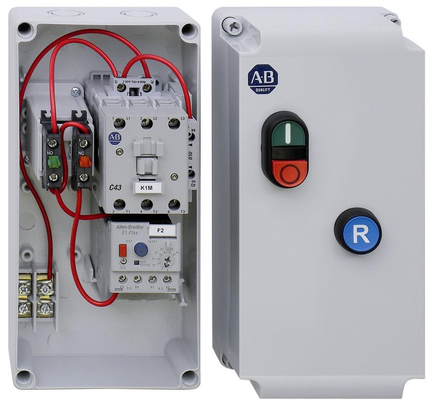 Allen-Bradley 109-C30LBE1F-1M-7 109C IEC Enclosed Non-reversing Non-Combination Starter, 100-C30, Type 1/4/4X/12K - IP66 Plastic - Large (Indoor/Outdoor Use), 440V 50Hz / 480V 60Hz, E1 Plus OLR 9.00 - 45.00A