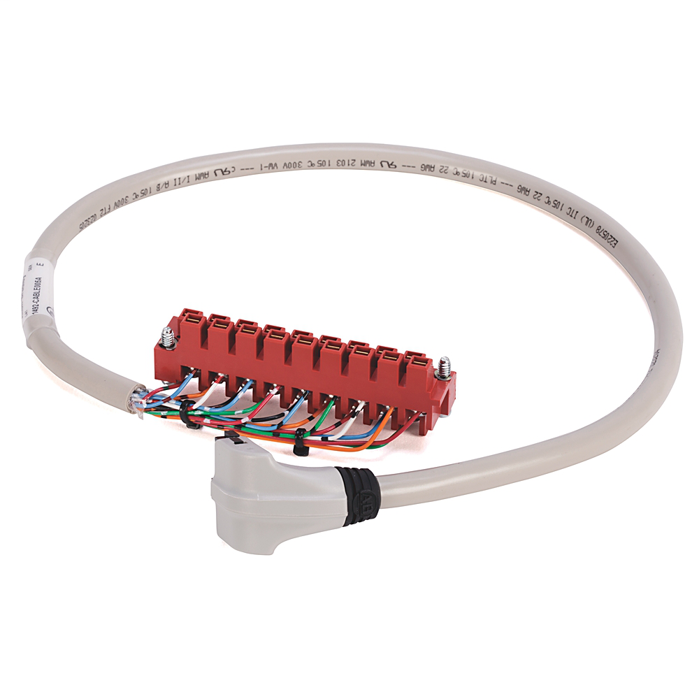 Allen-Bradley 1492-CABLE010C 1 m 300 Volt 22 AWG 20-Conductor Pre-Wired Digital Interface Cable