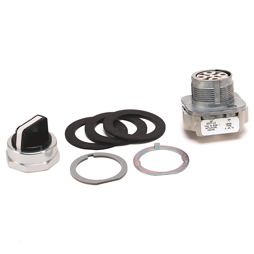 Allen-Bradley 800T-J2AV 30.5 mm Maintained 3-Position Standard Knob Non-Illuminated Selector Switch