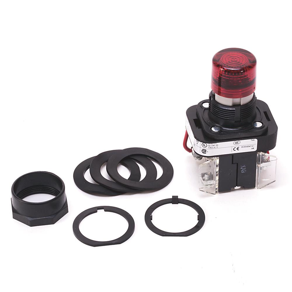 Allen-Bradley 800H-QRT24GAP 30 mm Pilot Light for Push Button