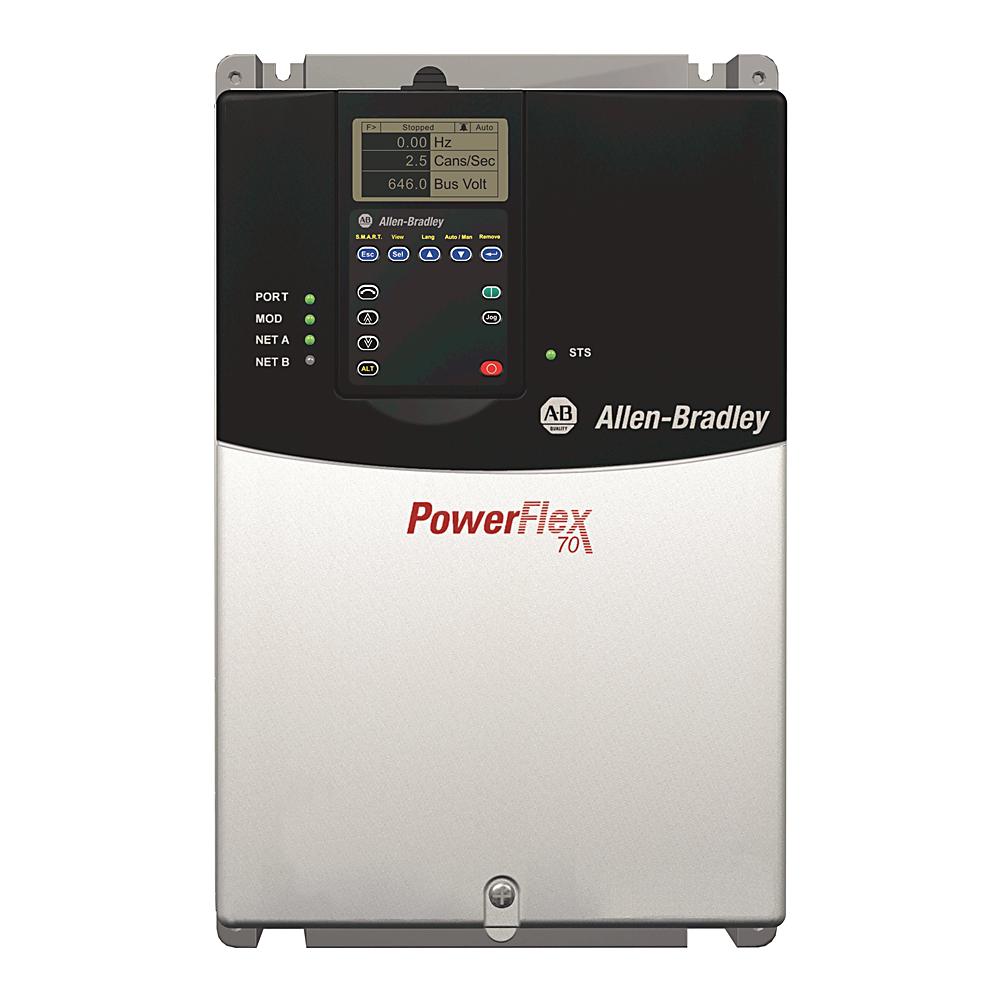 Allen-Bradley 20AD022A3AYNANG0 Powerflex 70 20 Amp 15 Hp AC Drive