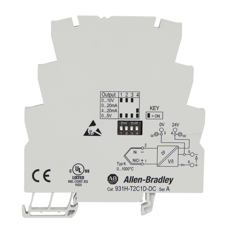 Allen Bradley 931H-T2C1D-DC Type K Thermocouple Signal Conditioner