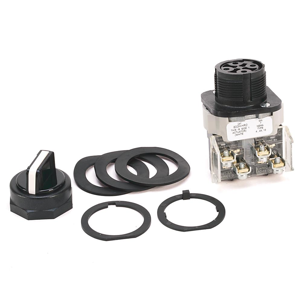 Allen-Bradley 800H-HR2D1Y 30 mm Selector Switch