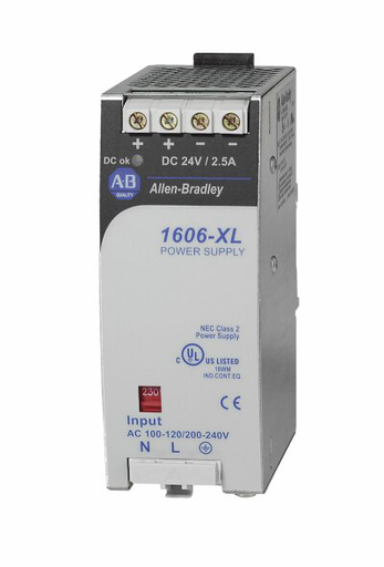 1606-XL60DR: Redundant Power Supply, 24V DC, 60 W, 120/240V AC / 160-375V DC Input Voltage