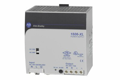 1606-XL240DR: Redundant Power Supply, 24V DC, 240 W, 120/240V AC / 210-375V DC Input Voltage