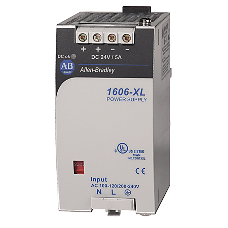 1606-XL120E-3: Standard Power Supply, 24-28V DC, 120 W, 3-Phase, 480V AC wide range / 450-820V DC Input Voltage