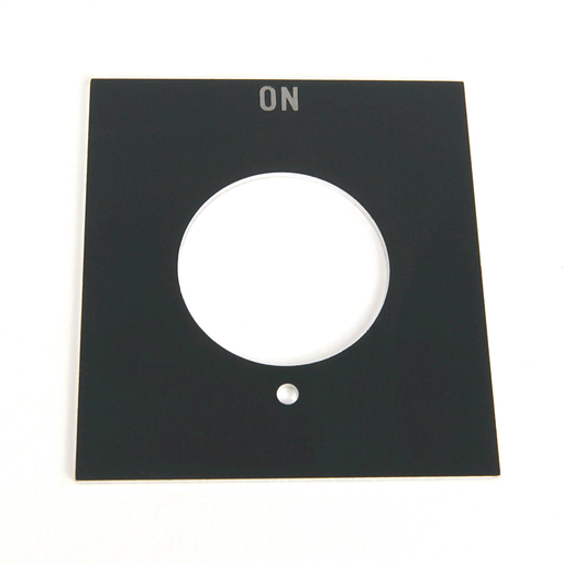 800H 7 & 9 Accessories, 800H 7 & 9 Legend Plates, Vertical, No Color Code, Standard, ON
