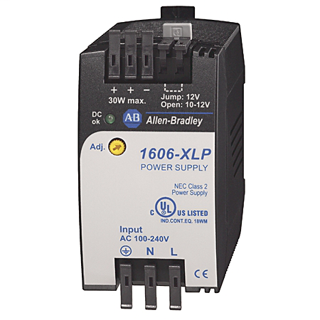 1606-XLP30B: Compact Power Supply, 10-12V DC, 30 W, 120/240V AC / 85-375V DC Input Voltage