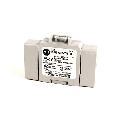 194E Accessories, Neutral Terminal, 25 - 32 Amp, Base / DIN Rail,
