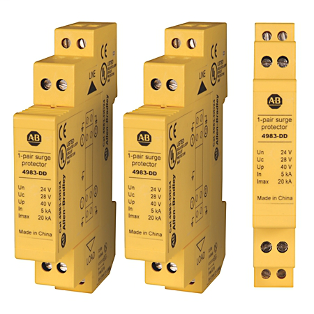 4983 Surge and Filter Protection, Din Rail Mount, Dataline UL 497B, 24V DC, None, No Pole Configuration