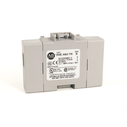 194E Accessories, Neutral Terminal, 40 - 63 Amp, Base / DIN Rail,