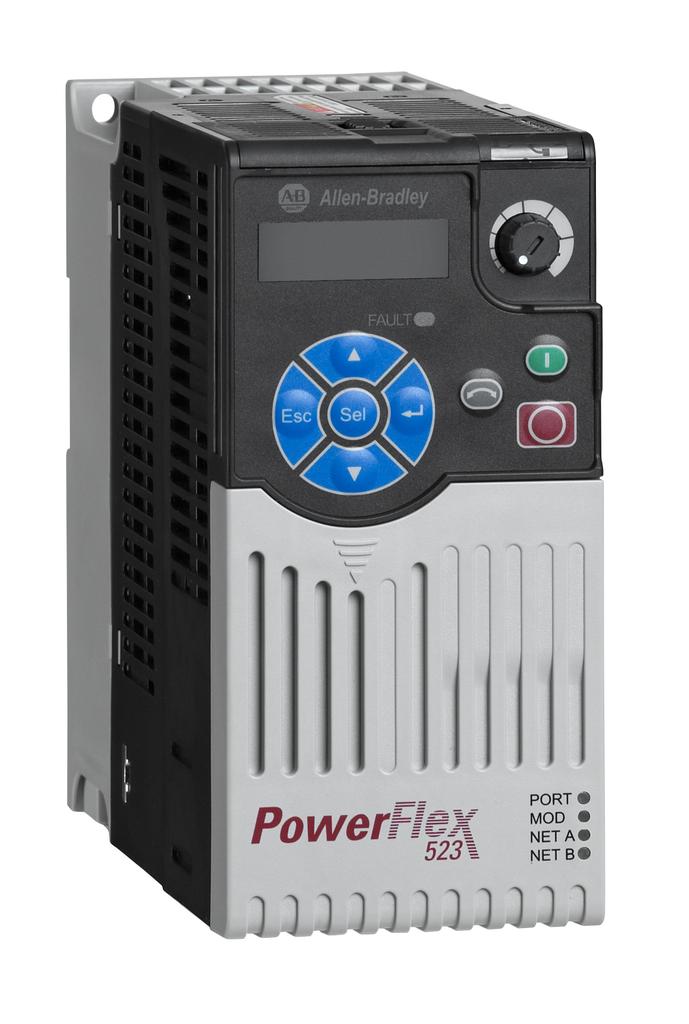 Allen-Bradley 25A-D2P3N104 Powerflex 523 0.75 kW 1 Hp AC Drive
