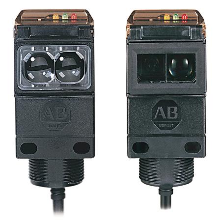 Allen-Bradley 42GRL-9002-QD 70 to 264 VAC/VDC 15 mA SPDT EM Relay Retroreflective Photoelectric Sensor