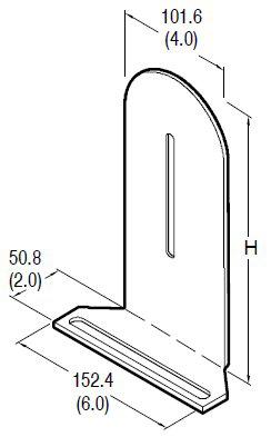 Allen-Bradley 60-2719 10 Inch Height Photoelectric Sensor Reflector Mounting Bracket