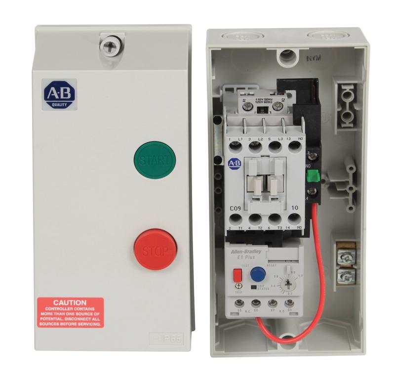 Allen-Bradley 109-C09KBE1D-1 109C IEC Enclosed Non-reversing Non-Combination Starter, 100-C09, Type 1/4/4X/12K - IP66 Plastic - Small (Indoor/Outdoor Use), 440V 50Hz / 480V 60Hz, E1 Plus OLR 3.20 - 16.00A