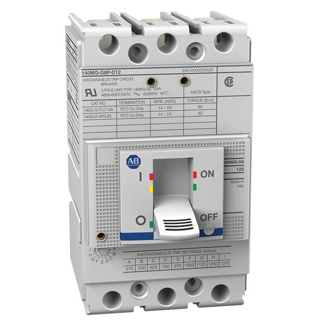 Allen Bradley 140MG-I8P-D15 150 Amp I-Frame Motor Protector Circuit Breaker