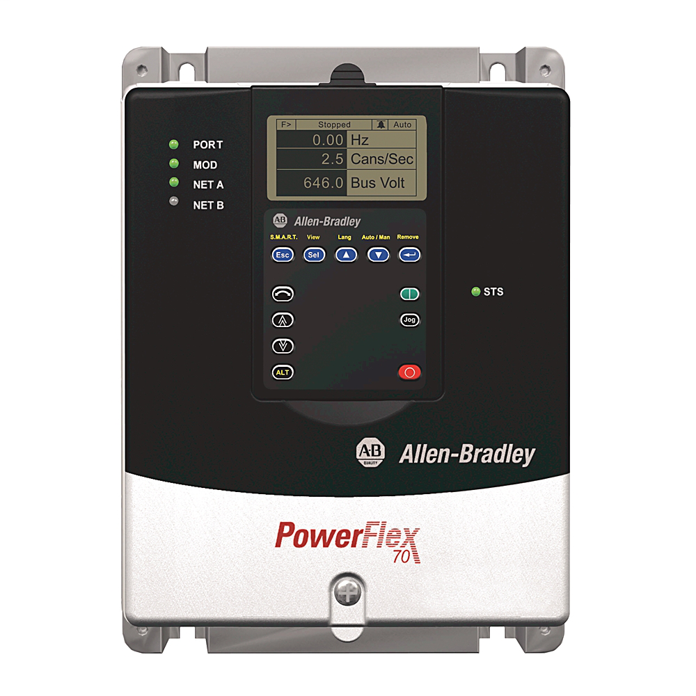 Allen-Bradley 20AD8P0A3AYYNNC0 Powerflex 70 8 Amp at 5 Hp AC Drive
